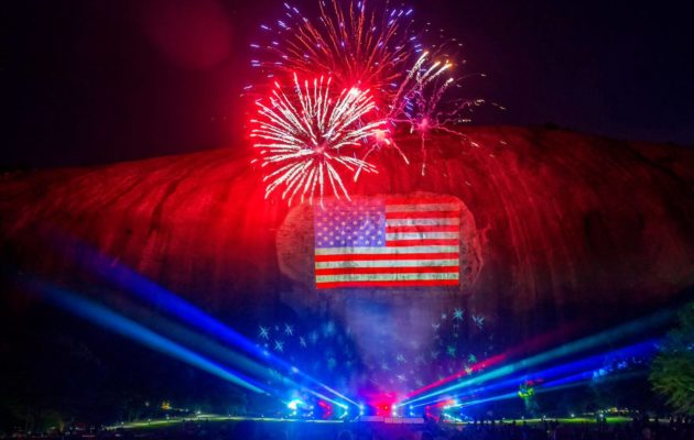 4th of July at Stone Mountain Park in Atlanta