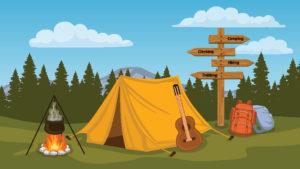 tent for summer camp in atlanta