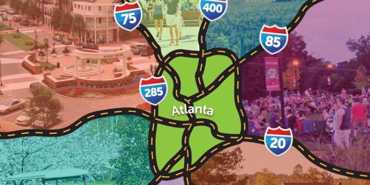 map of outside Atlanta Georgia