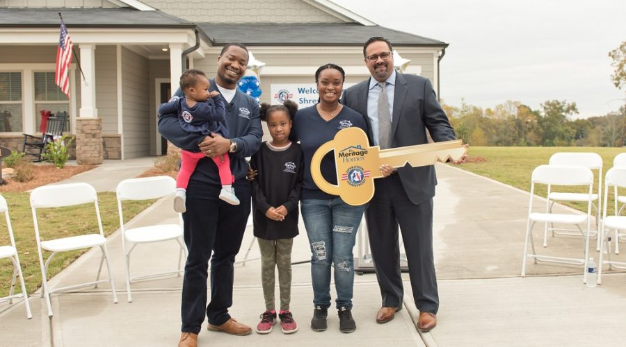Meritage Homes Awards Mortgage-Free Home to Atlanta-Based, Dual Military Couple