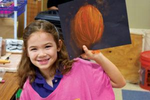 Lyndon Academy art student